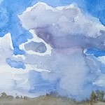 august sky watercolour